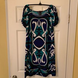 Fun short sleeve print dress